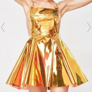 Flame Gurl Hologram Overall Dress 🔥